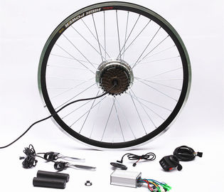7 Speed Rear Wheel Electric Bike Hub Motor Conversion Kit With Batteries